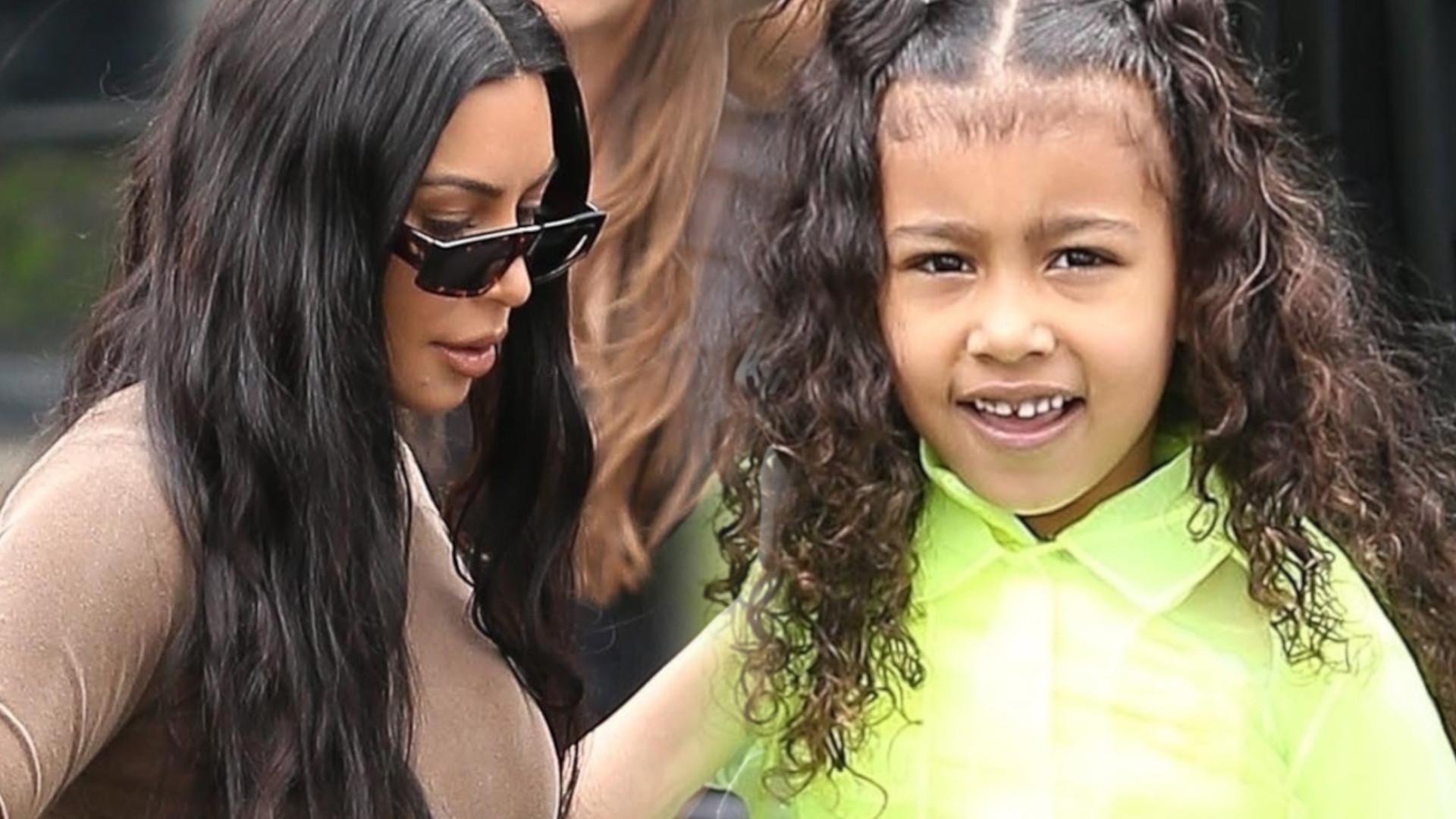 Kim Kardashian prowadzi North do kościoła. Zobaczcie jej uroczą stylizację (ZDJĘCIA)