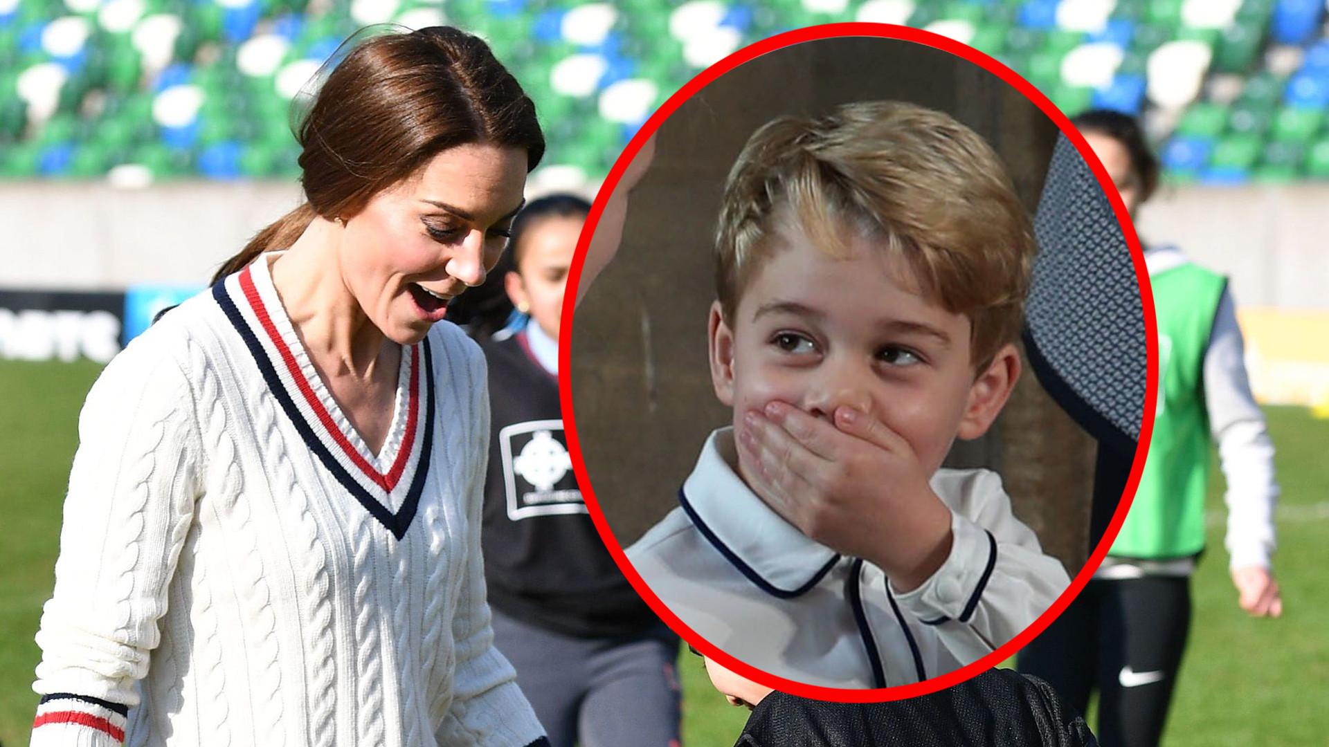 Internet pęka ze śmiechu po komentarzu księcia George'a na temat mamy Kate
