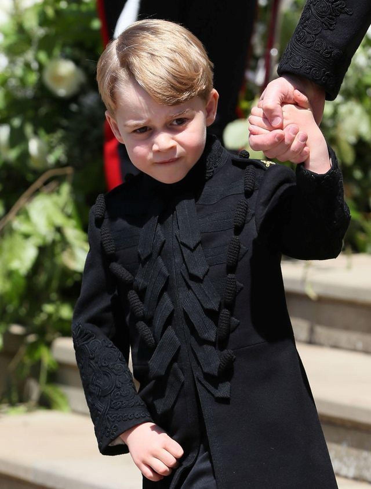 Książę George na ślubie Harry'ego
