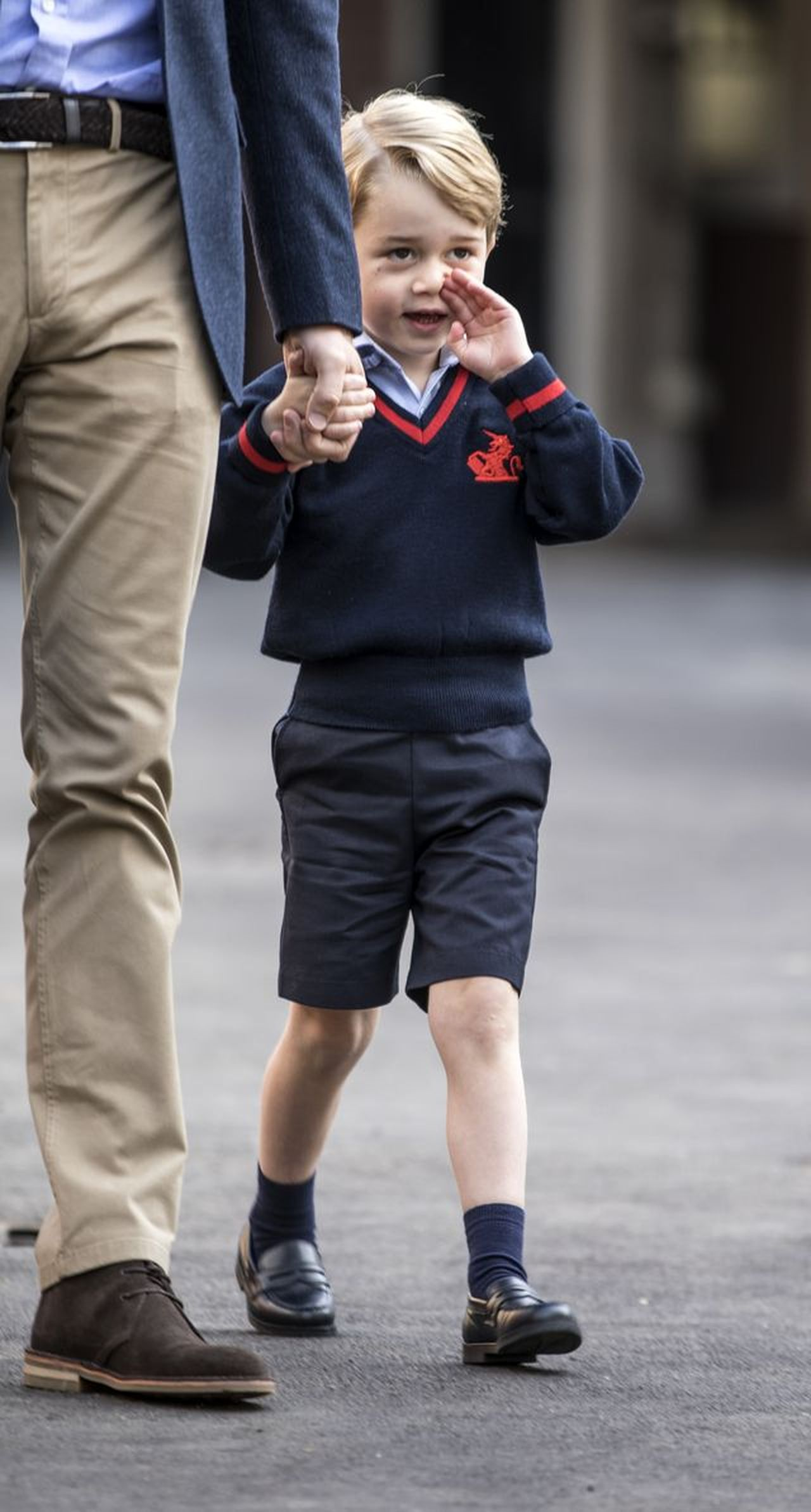 Prince George's First Day At Thomas's School in London