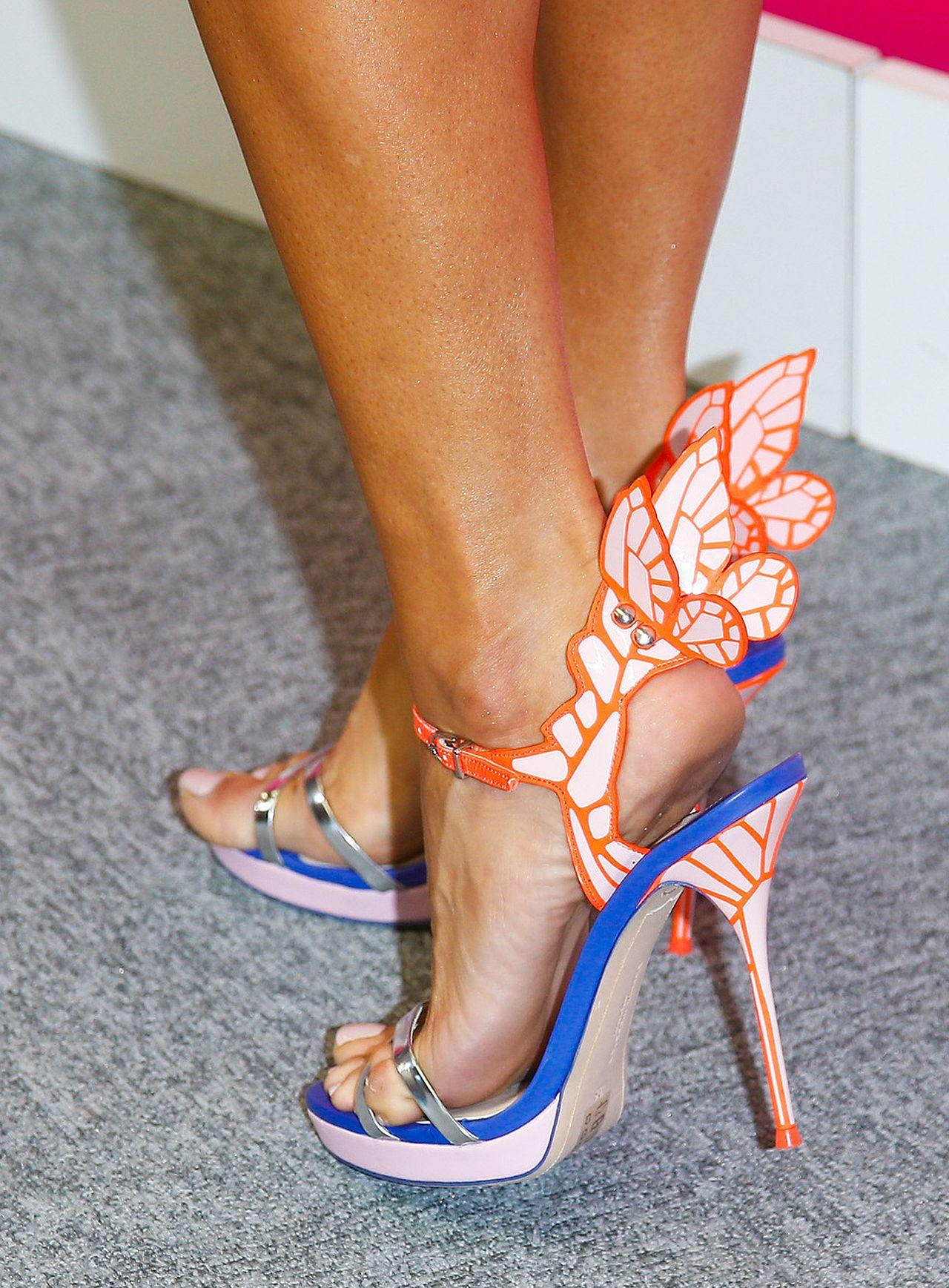 Małgorzata Rozenek w butach z motylkiem