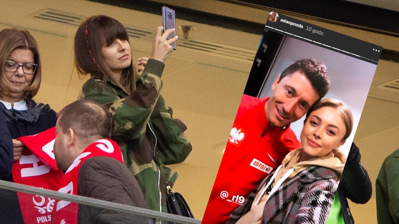 Marina Szczęsna i Anna Lewandowska razem kibicowały na meczu Polska-Łotwa. Kto był jeszcze na stadionie?