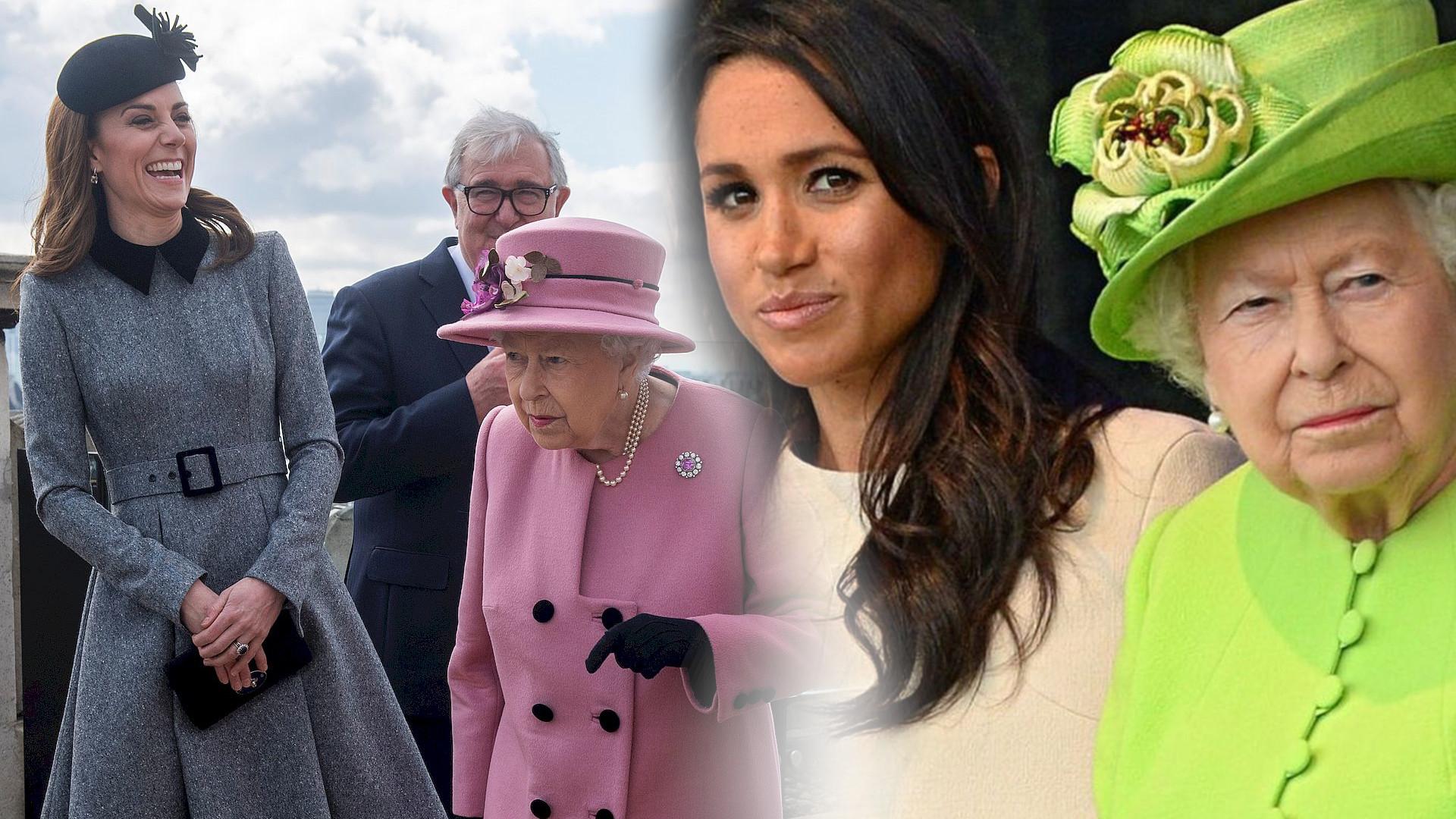 Kate Middleton i Meghan Markle zrobiły TO SAMO na swoim wystąpieniu solo z Elżbietą II