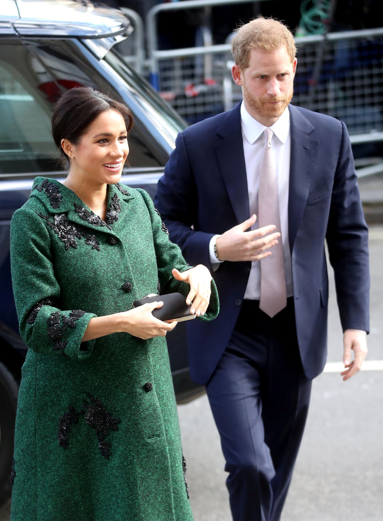 Britain's Prince Harry and Meghan, Duchess of Sussex attend a Commonwealth Day youth event in London