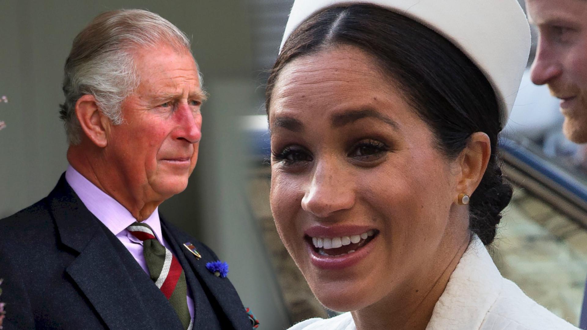 Meghan Markle wykonała DZIWNY gest, gdy zobaczyła Karola. Uznano to za WPADKĘ (VIDEO)