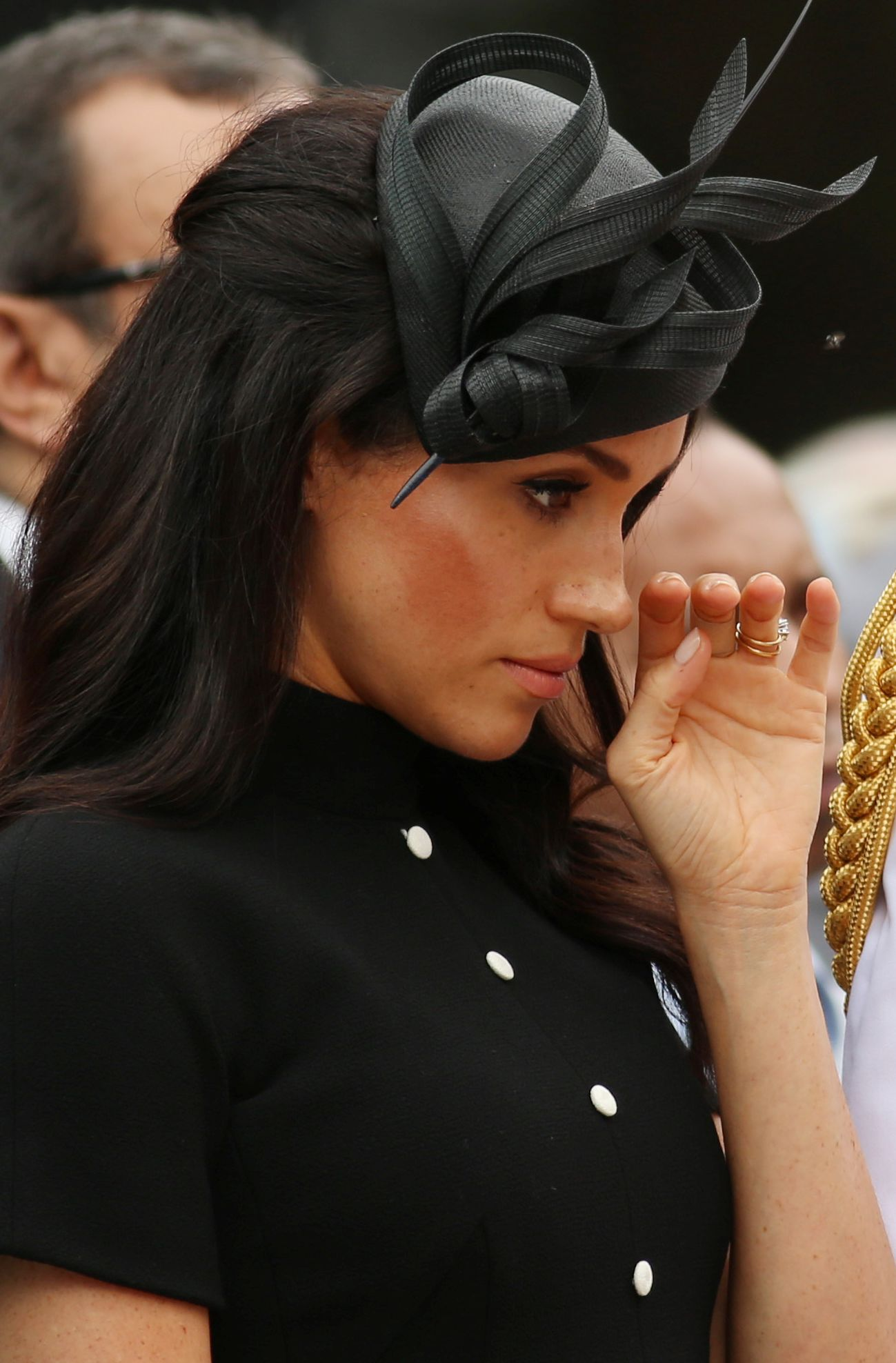 Meghan Markle, the Duchess of Sussex, visits the new ANZAC memorial in Hyde Park