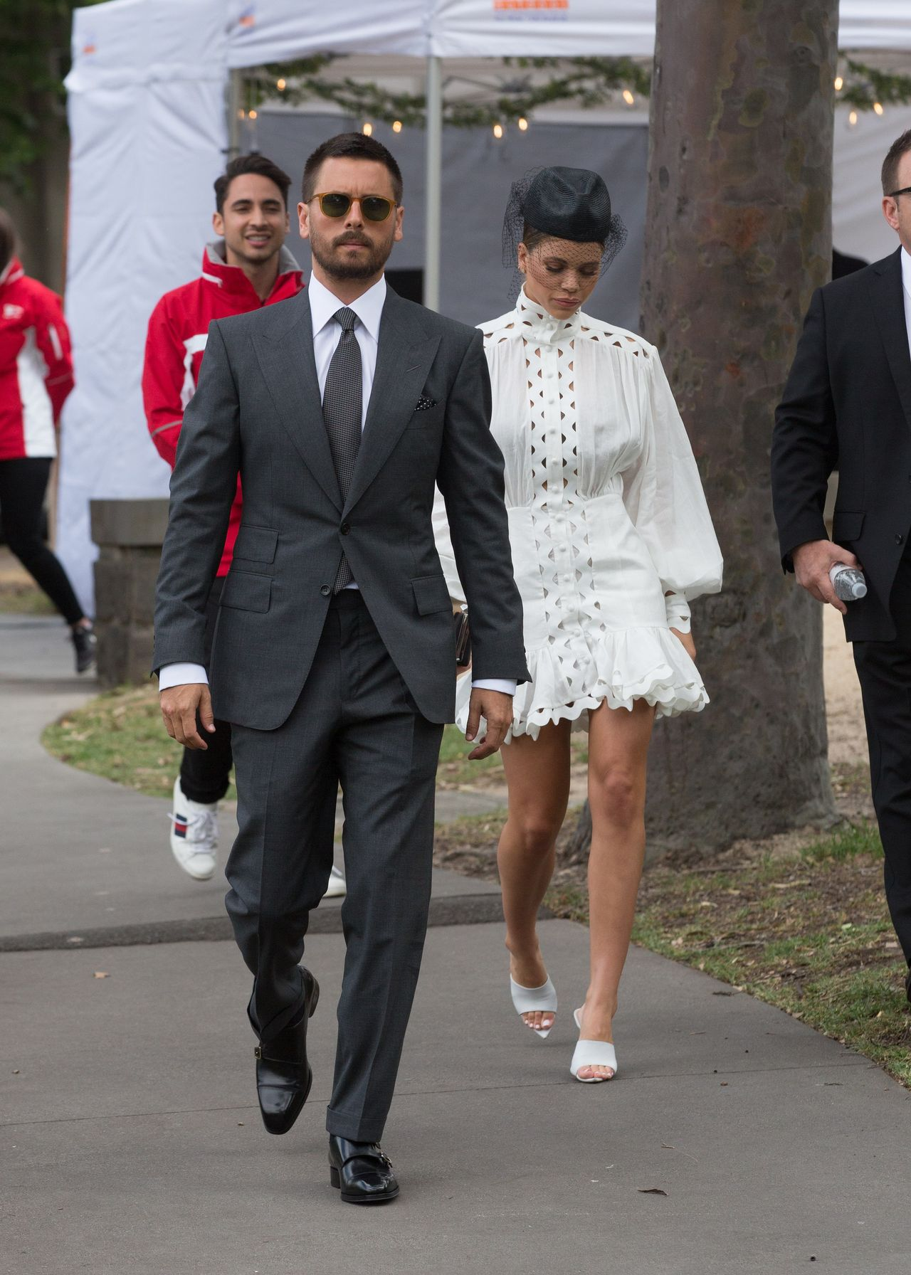 EXCLUSIVE: Scott Disick and Sofia Richie board a helicopter to the Derby Day races in Melbourne