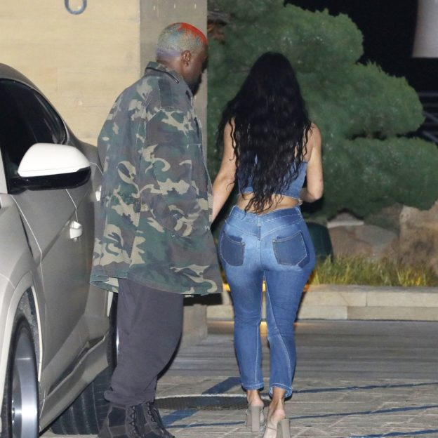 Kim Kardashian And Kanye West Share Passionate Kiss After Dinner At Nobu