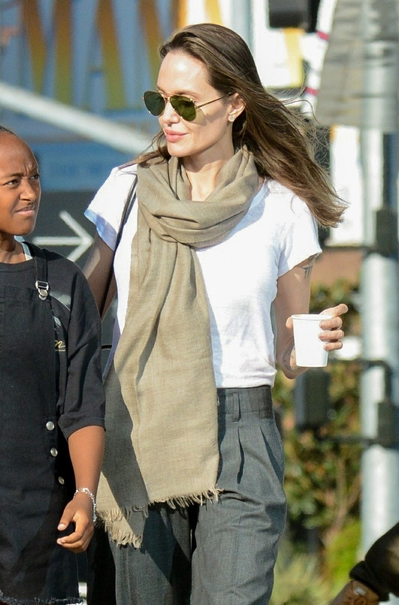 *EXCLUSIVE* Angelina Jolie goes on a shopping spree with her kids amidst Brad Pitt divorce drama Maddox Chivan Jolie-Pitt, Angelina Jolie, Zahara Marley Jolie-Pitt