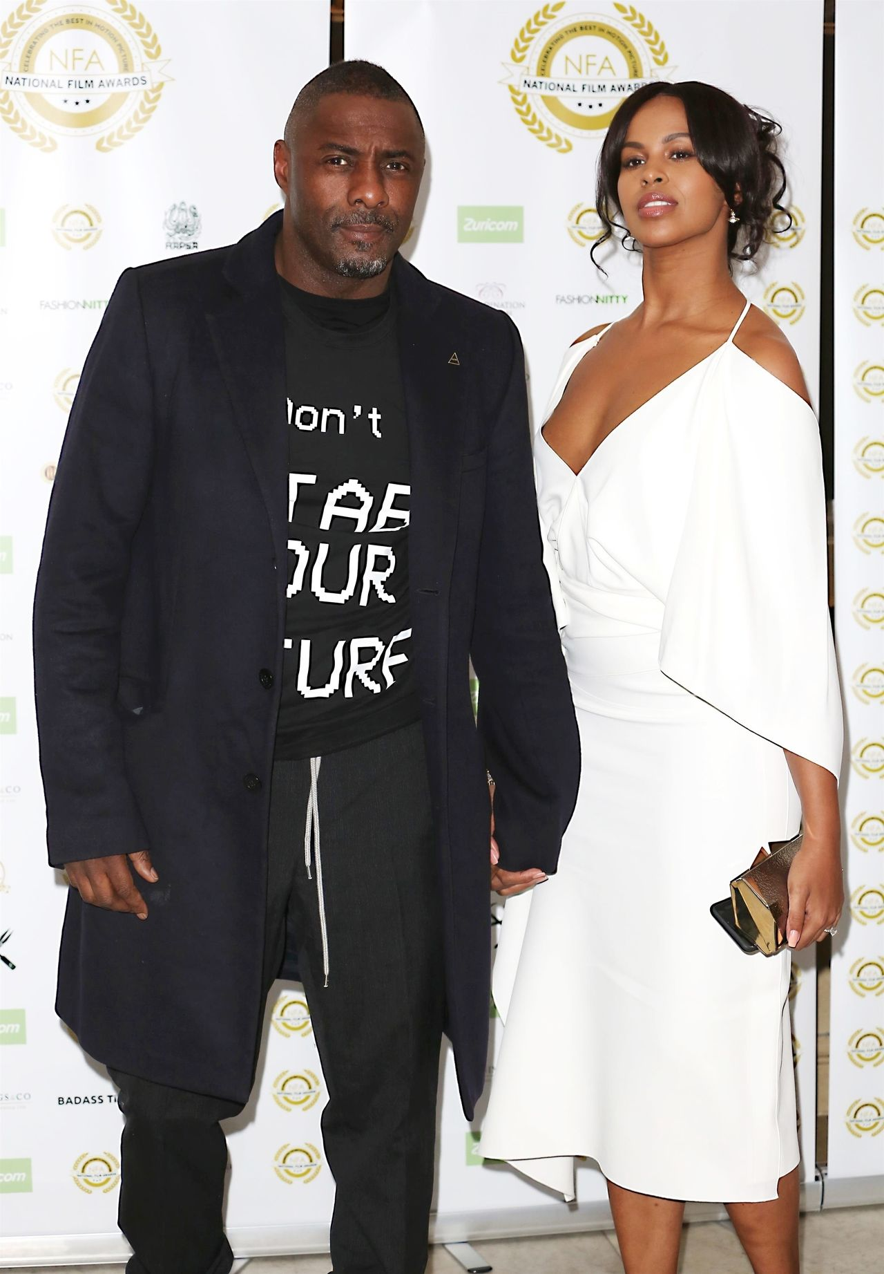 Celebrities at The National Film Awards 2019 / WLHN / BACKGRID , kod: Idris Elba, Sabrina Dhowre