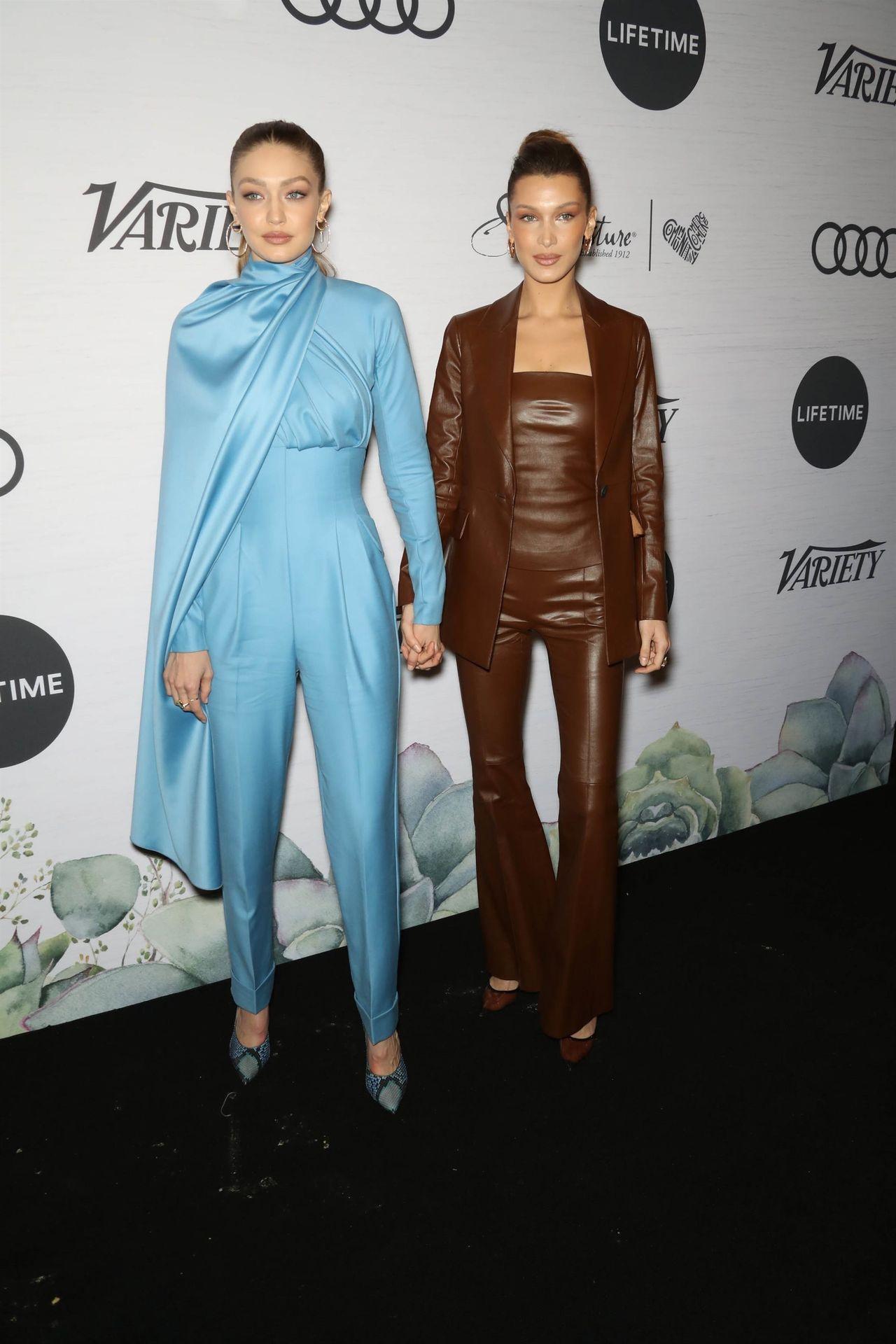 Bella Hadid i Gigi Hadid na gali Variety's Power of Women