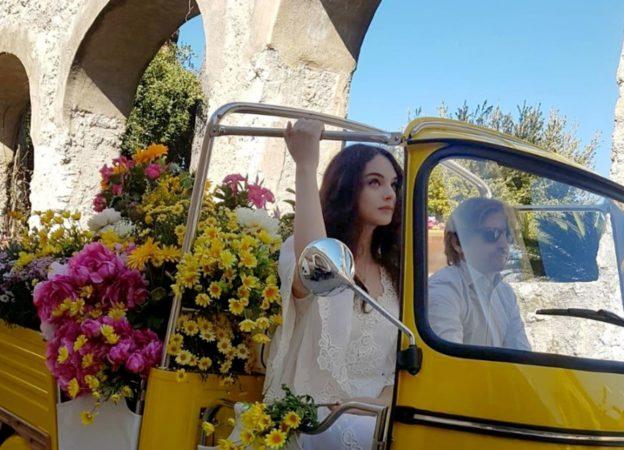 *EXCLUSIVE* Deva Cassel filming a spot for Dolce  & Gabbana in Ravello