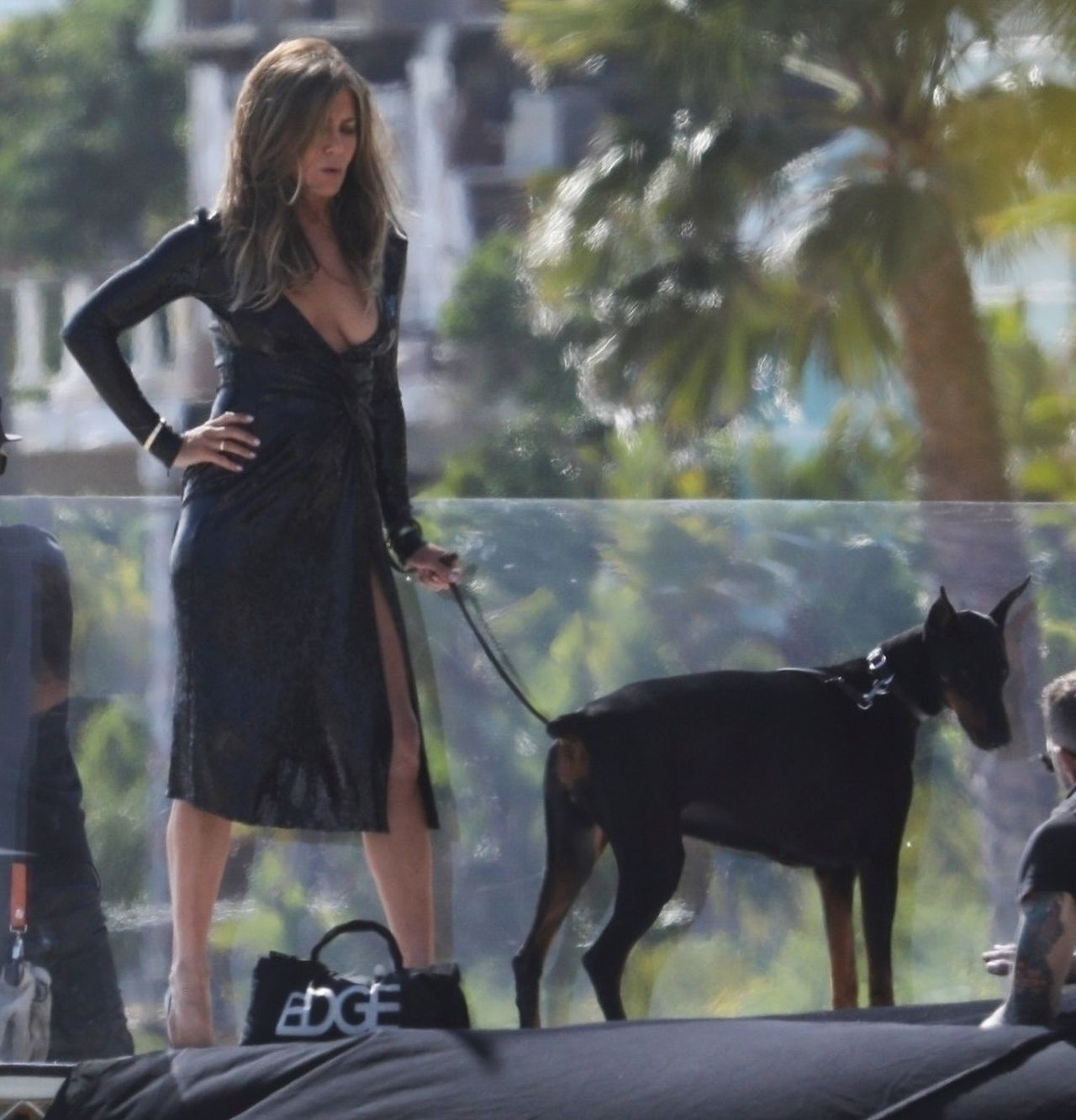 Jennifer Aniston... z dobermanem