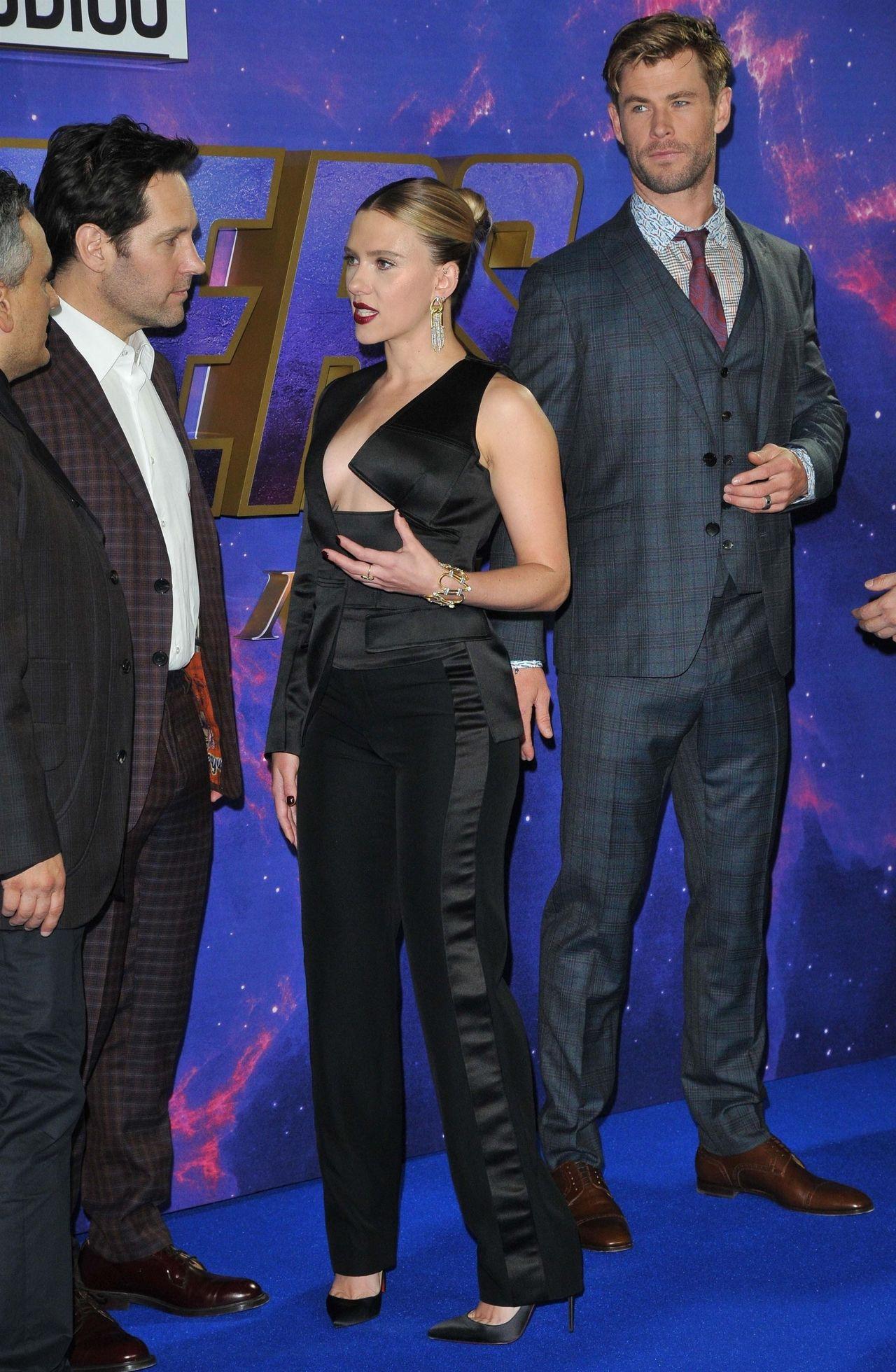 Scarlet Johansson na premierze Avengers