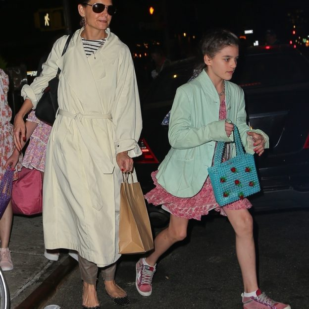Katie Holmes and Suri leave 'Delicatessen' after celebrating her 13th birthday Katie Holmes, Suri Cruise