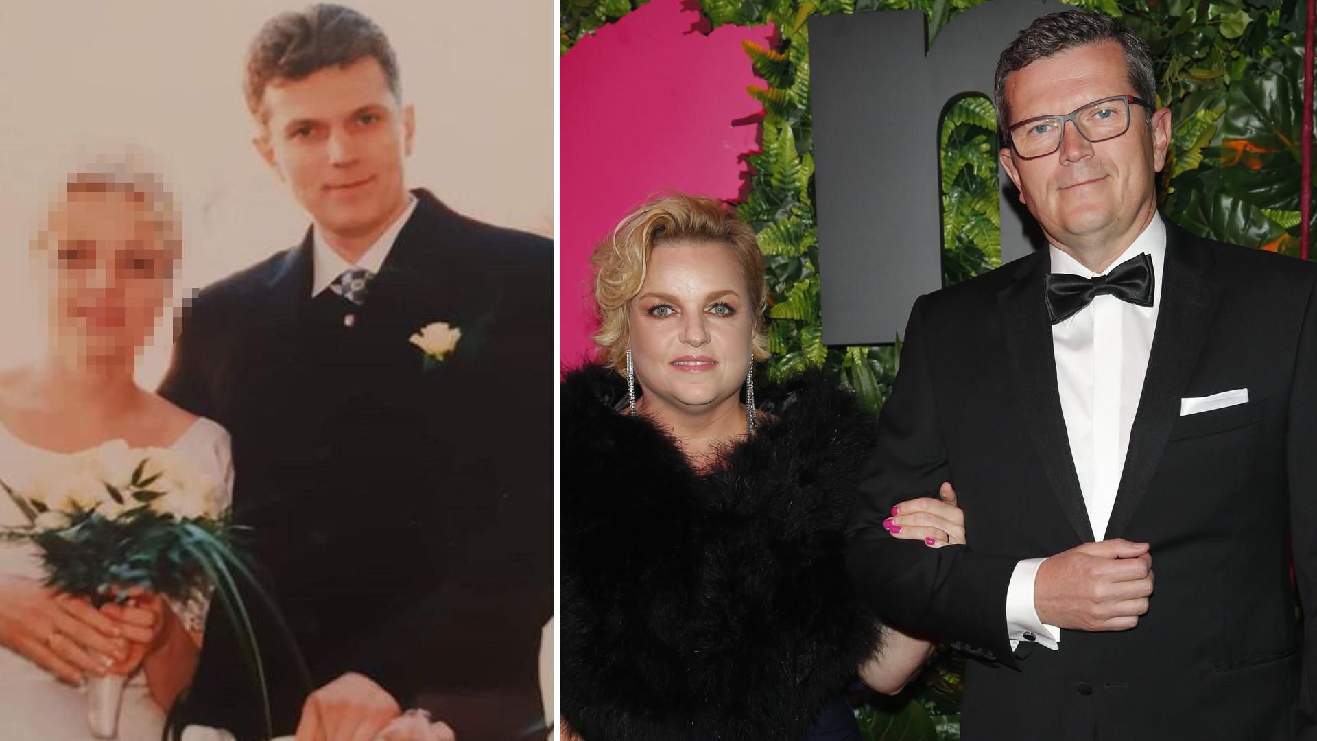 Katarzyna Bosacka na ślubnym zdjęciu sprzed 22 lat – gwiazda świętuje dziś rocznicę ze swoim mężem