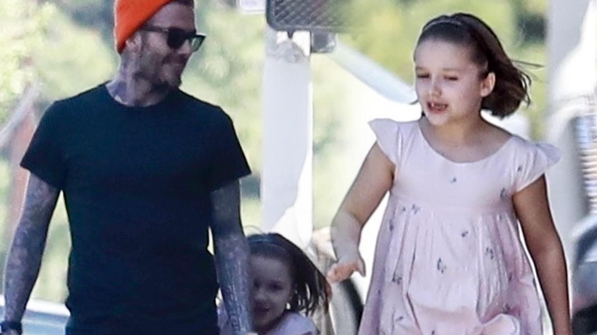 David Beckham z 7-letnią córką Harper na zakupach (ZDJĘCIA)