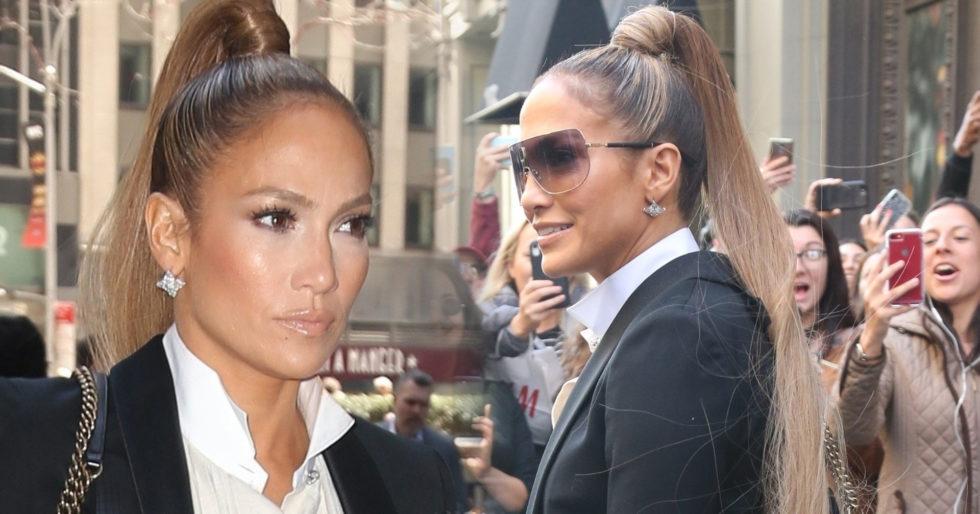 Jennifer Lopez Zaszalała Z Fryzurą Kucyk Sięgał Pupy