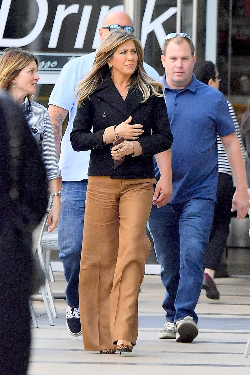 EXCLUSIVE: Jennifer Aniston heads out to lunch with a friend