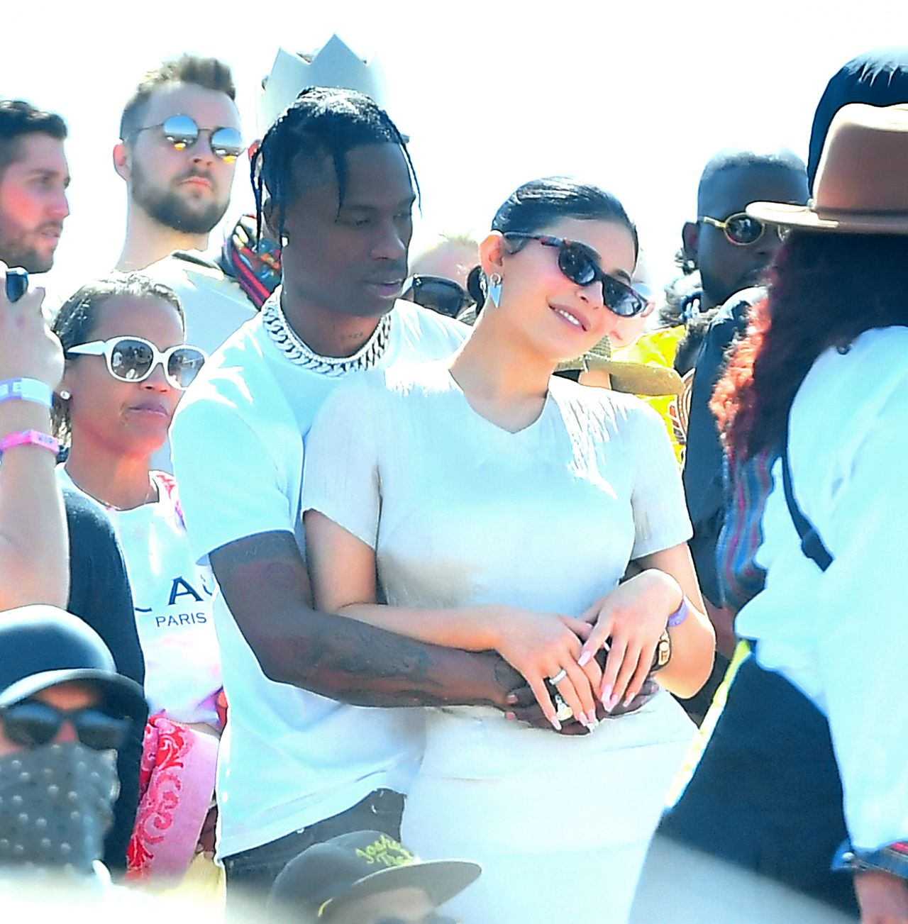 Travis Scott z Kylie Jenner na Coachelli