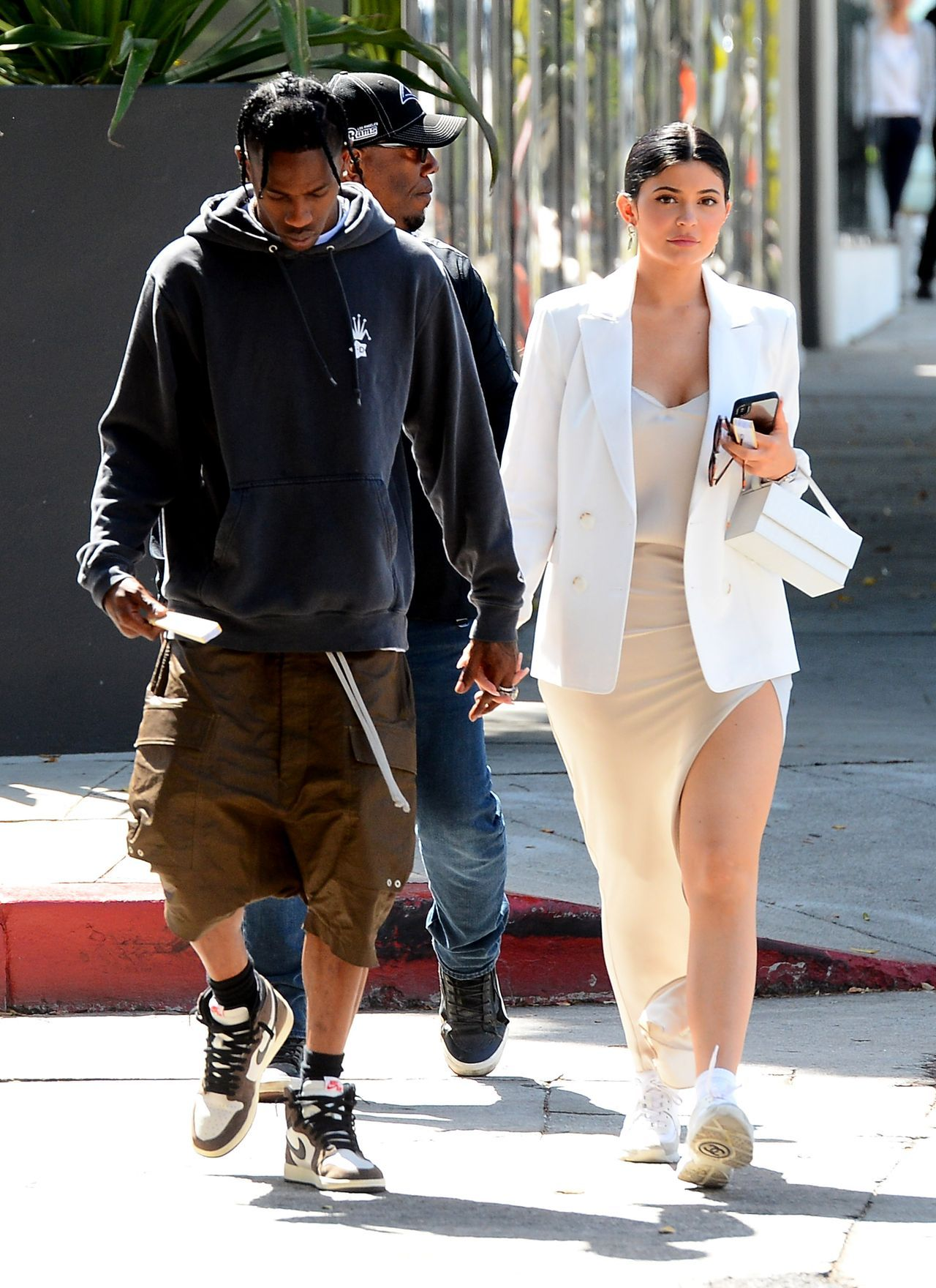 EXCLUSIVE: Kylie Jenner and Travis Scott Hold Hands Shopping at Furniture Store in West Hollywood