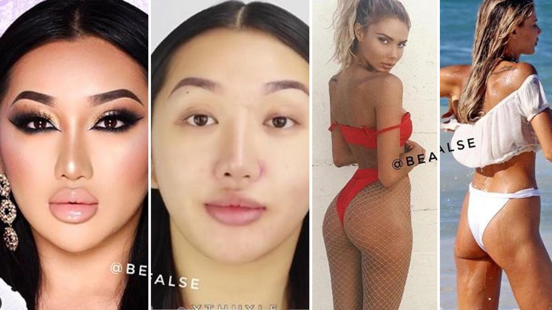Te zdjęcia pokazują BRUTALNĄ PRAWDĘ – tak nas okłamują celebrytki, modelki i influencerki