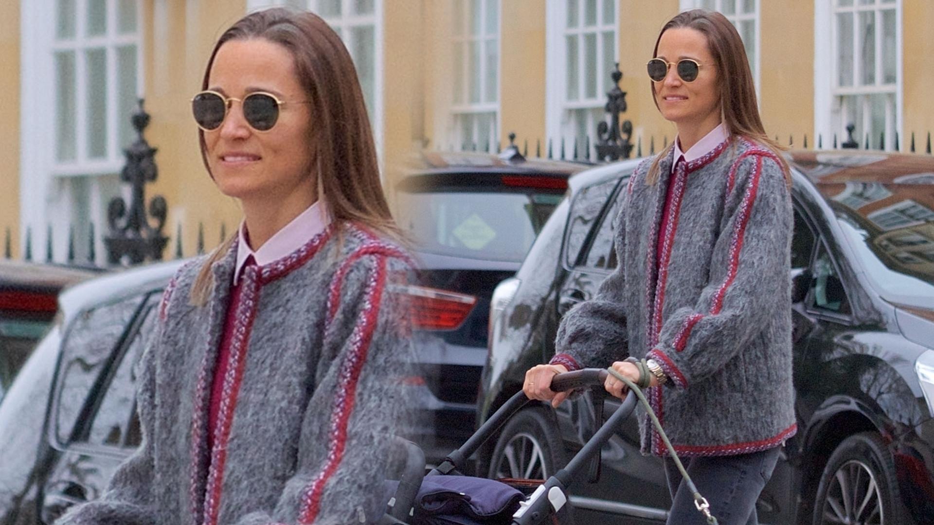 Siostra Kate Middleton, Pippa, na spacerze z synkiem (ZDJĘCIA)
