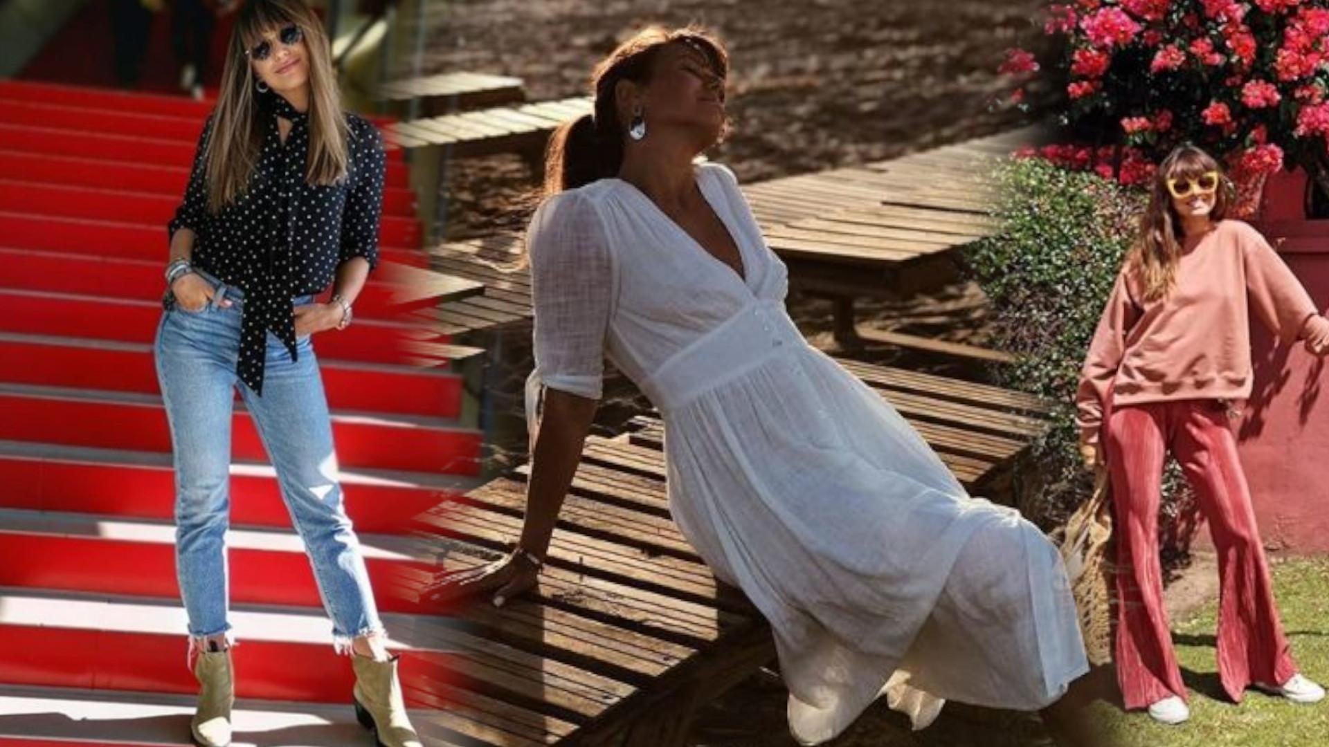 Romantyczne sukienki, wygodne botki, spodnie – dzwony: co Anna Lewandowska nosi na wiosnę?