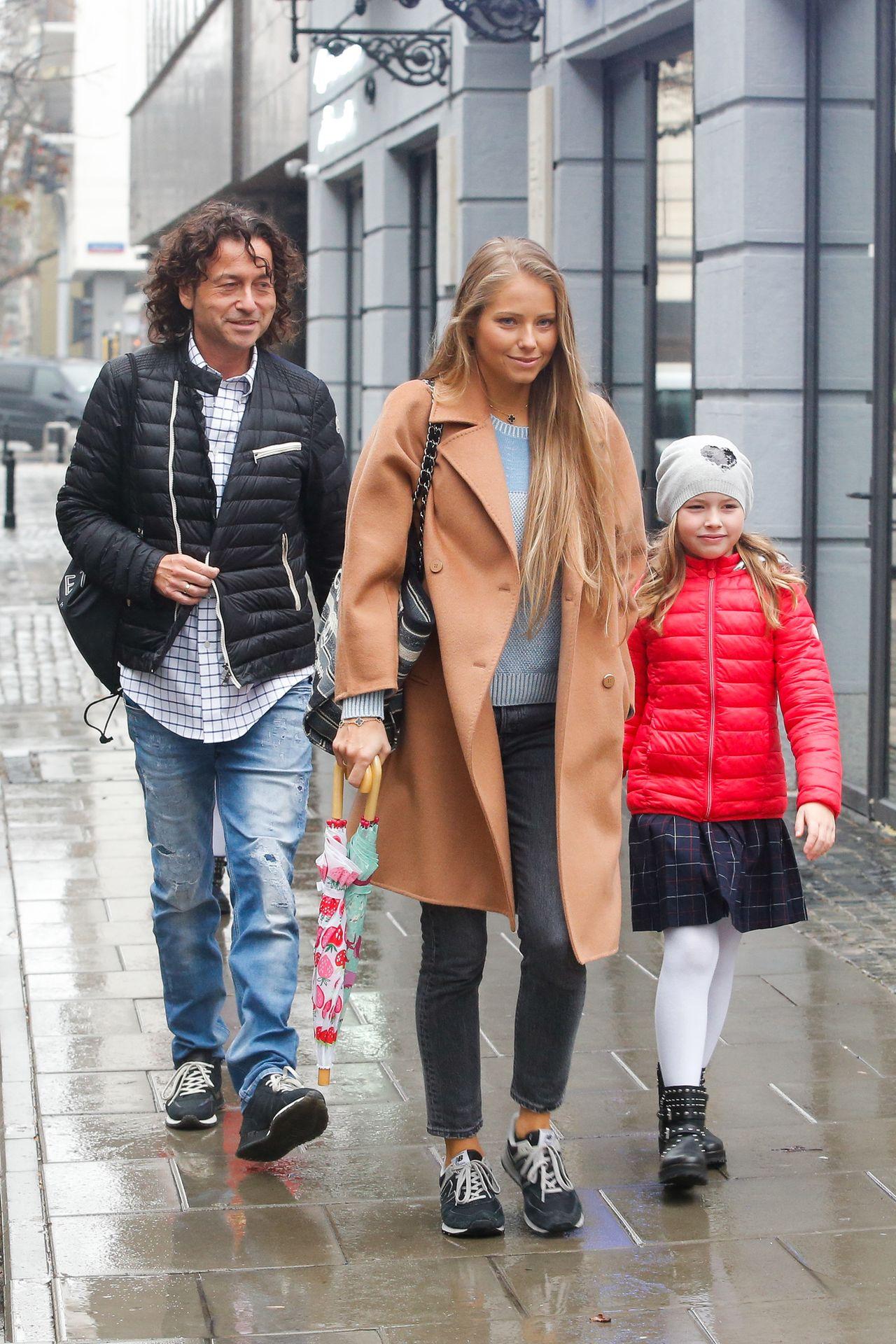 Agata Rubik z mężem Piotrem i córką