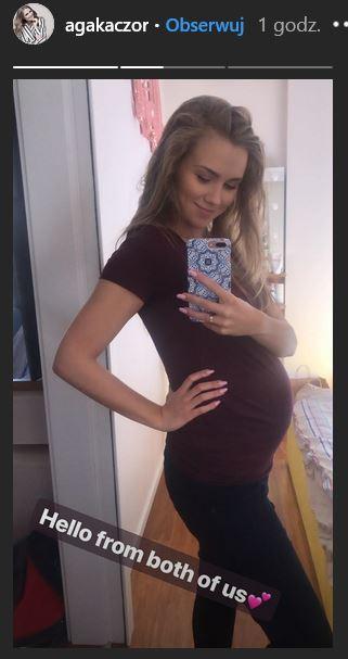Agnieszka Kaczorowska w ciąży