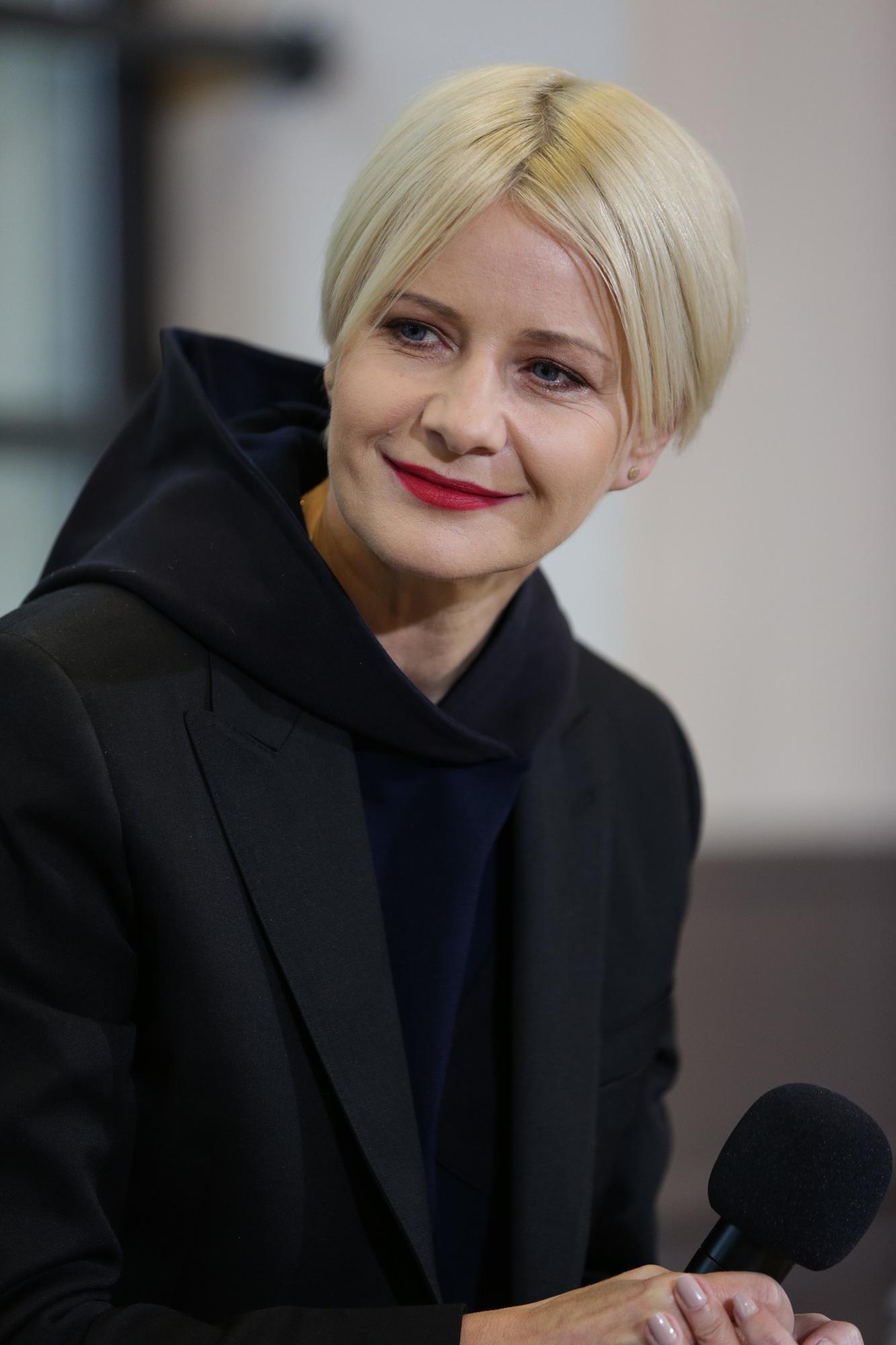 Małgorzata Kożuchowska na Off Camera Festiwalu w Krakowie w nowej fryzurze
