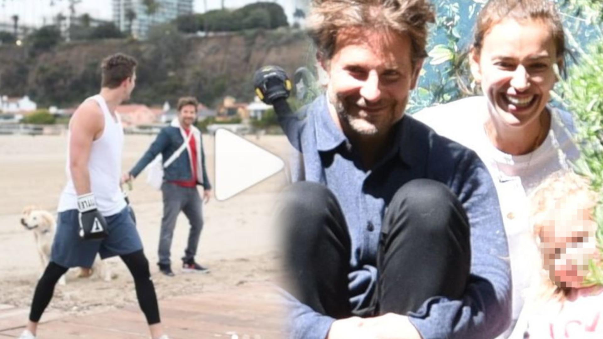 Bradley Cooper i Irina Shayk z córeczką PRZYPADKOWO weszli w kadr nagrania. Wyglądali tak normalnie, że nikt ich nie poznał (VIDEO)