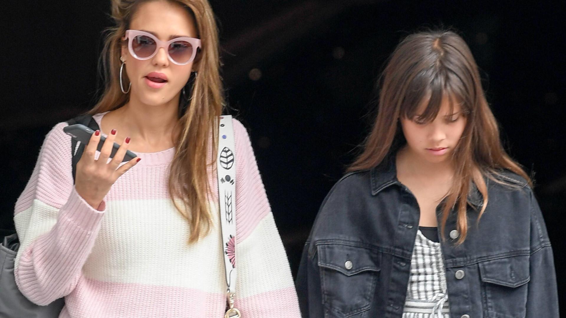 Jessica Alba z córką Honor na zakupach