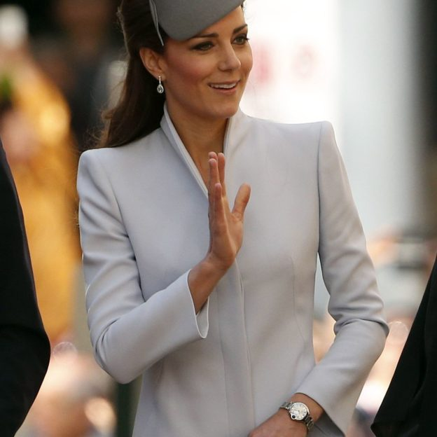 Catherine, the Duchess of Cambridge, and her husband Britain's Prince William arrive at Sydney's St Andrew's Cathedral