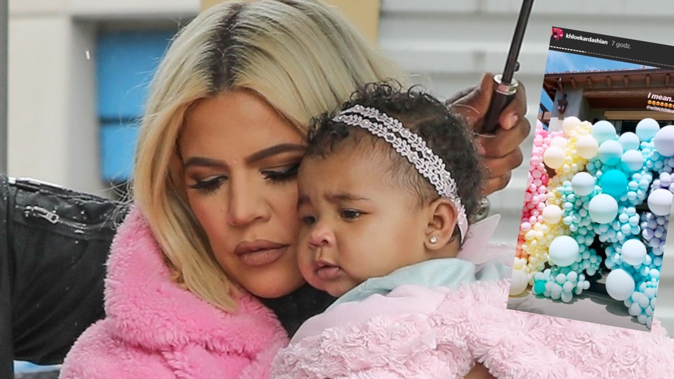 Huczne urodzinki True. Khloe Kardashian po raz pierwszy spotkała się z Tristanem Thompsonem
