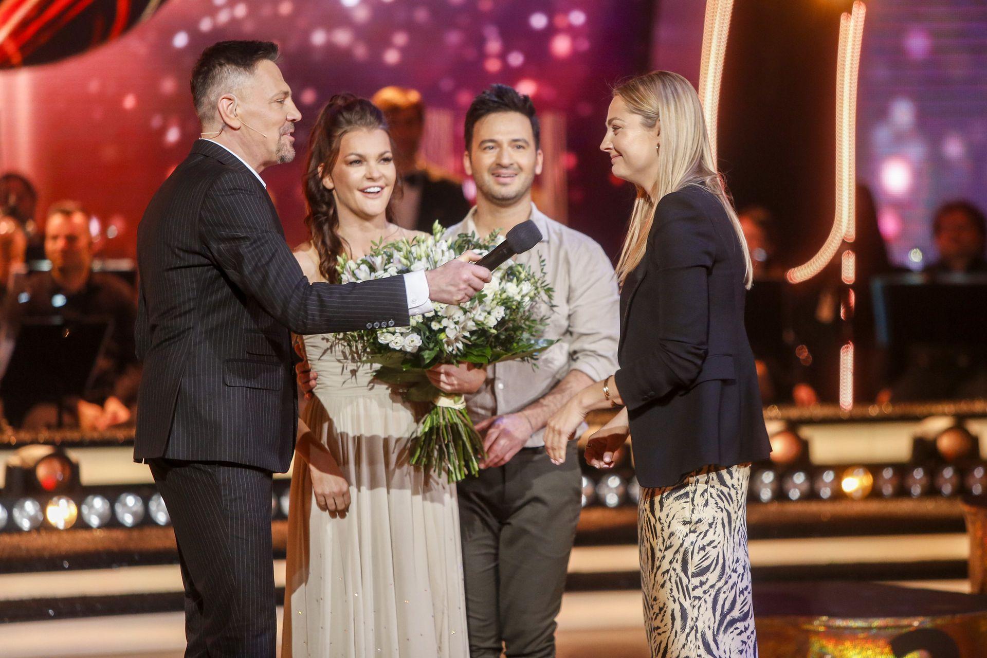 Małgorzata Socha na widowni Tańca z gwiazdami