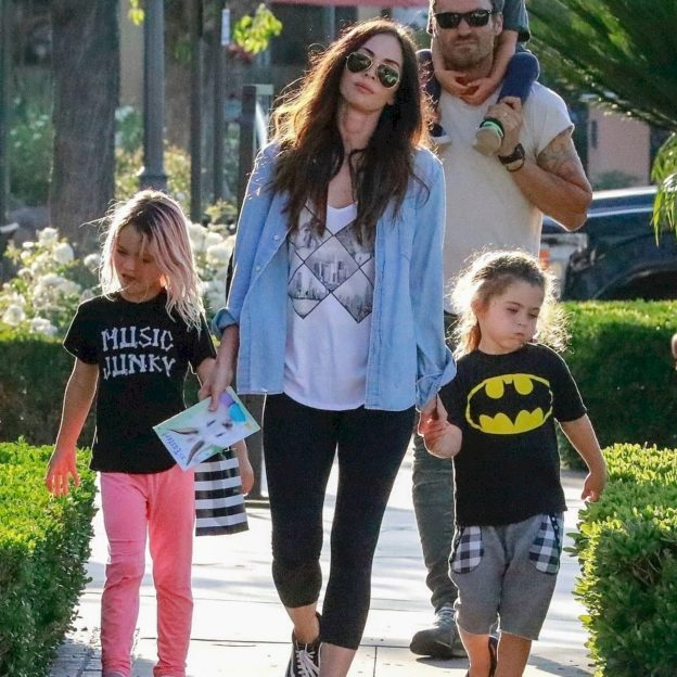*EXCLUSIVE* Megan Fox and Brian Austin Green take their children shopping in Calabasas Megan Fox, Brian Austin Green