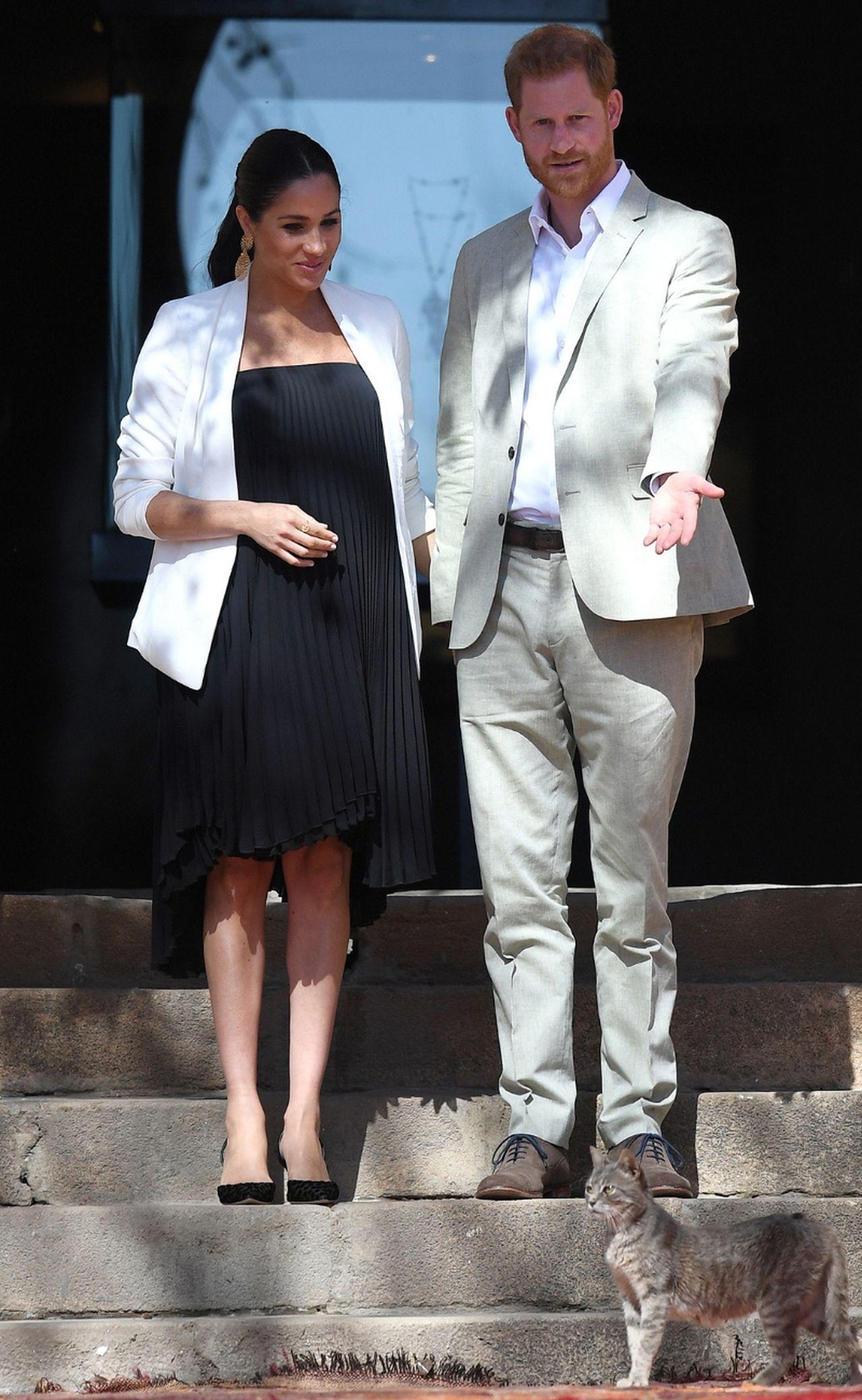 Ciężarna księżna Meghan i książę Harry.