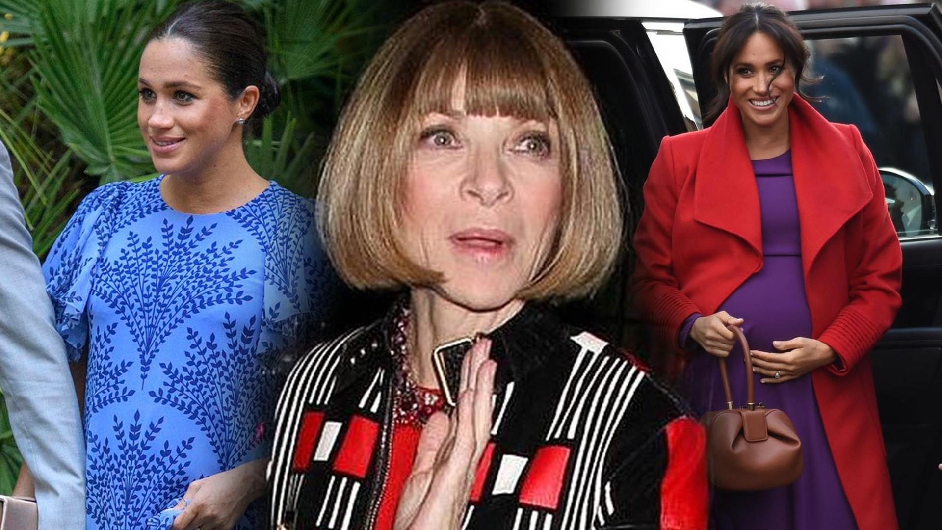 Anna Wintour zaskakująco o stylu Meghan Markle w ciąży. Jej rada dla księżnej dotyczy WSZYSTKICH kobiet