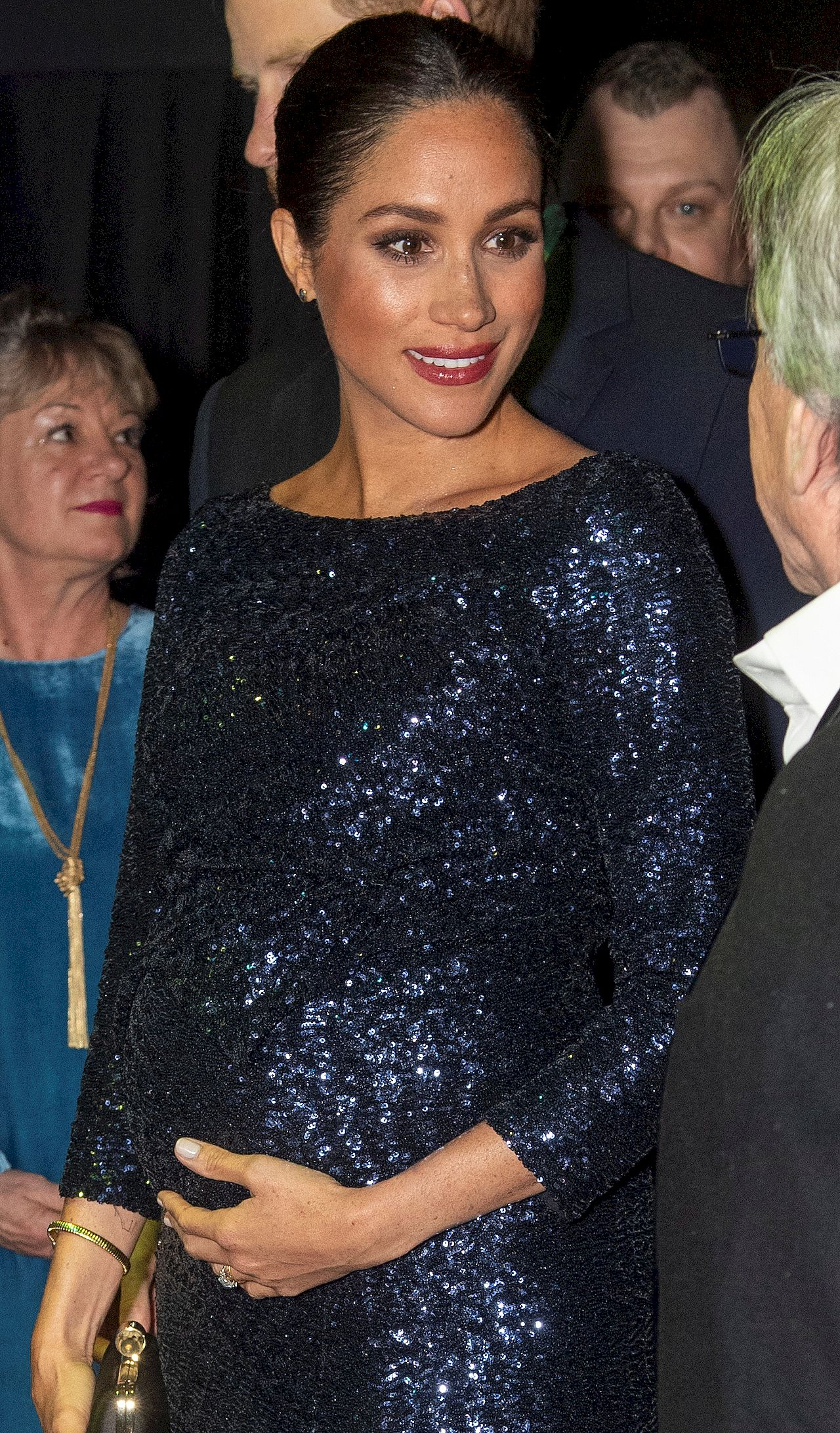 Britain's Prince Harry and Meghan, Duchess of Sussex attend the premiere of Cirque du Soleil's 'Totem' at the Royal Albert Hall in London