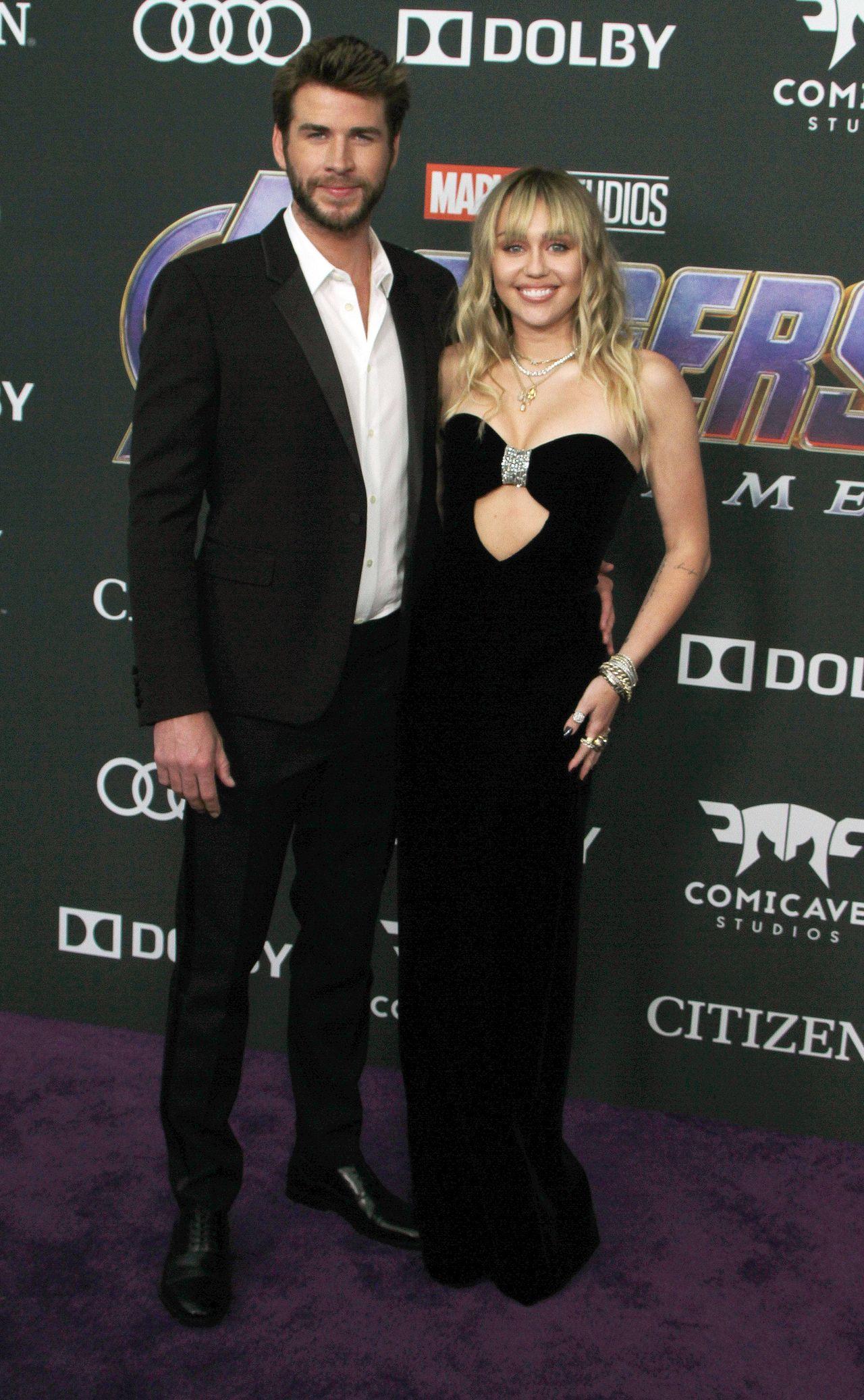 Miley Cyrus i Liam Hemsworth na premierze Avengers Endgame