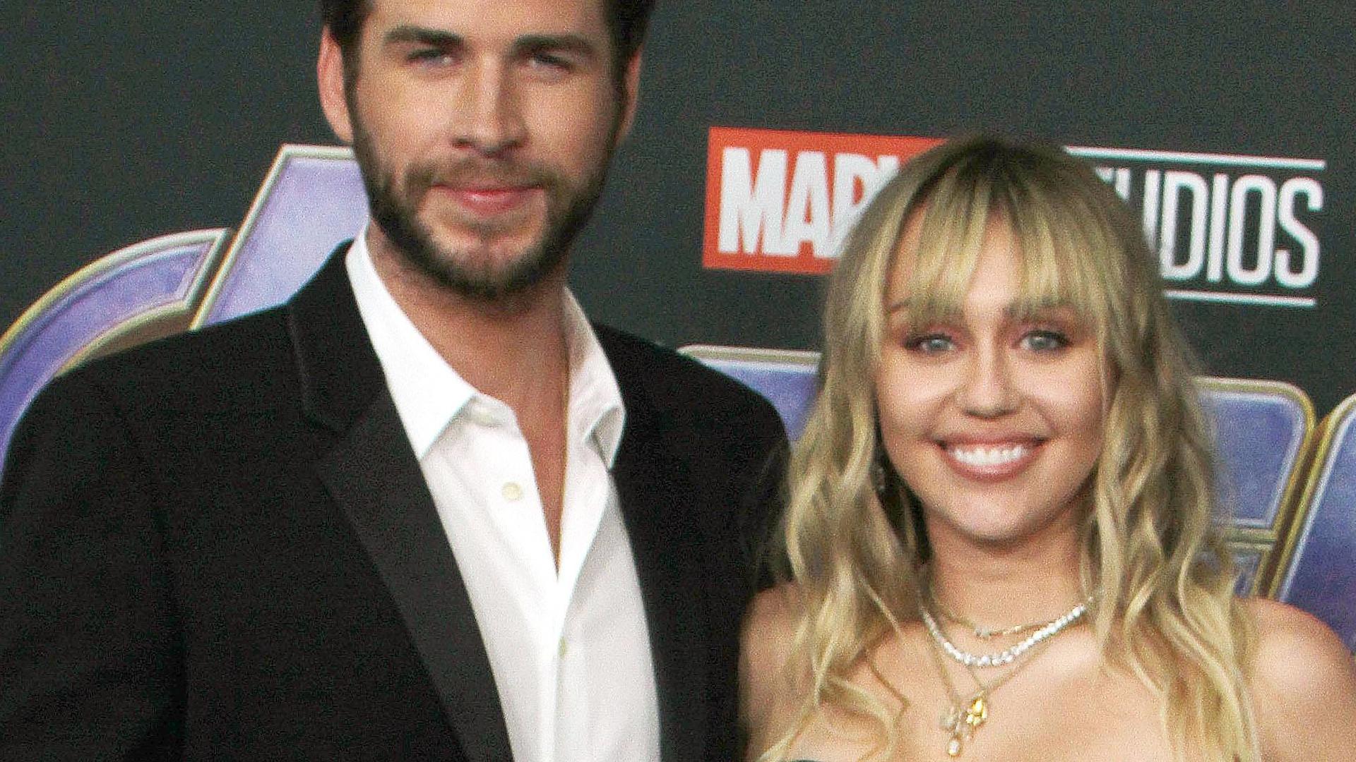"""Miley Cyrus z mężem Liamem Hemsworthem na premierze """"Avengers: Koniec gry"""""""