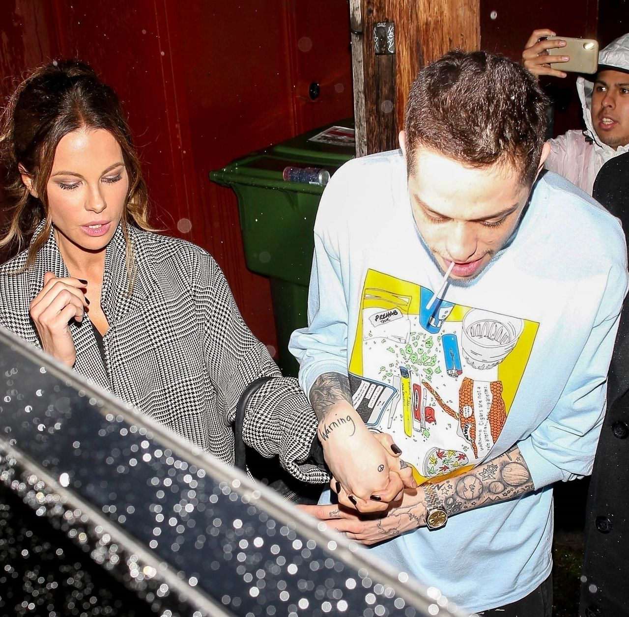 Pete Davidson and Kate Beckinsale show off their new romance while exiting Largo at the Coronet Pete Davidson, Kate Beckinsale