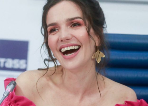 Uruguayan singer Natalia Oreiro gives press conference in Moscow