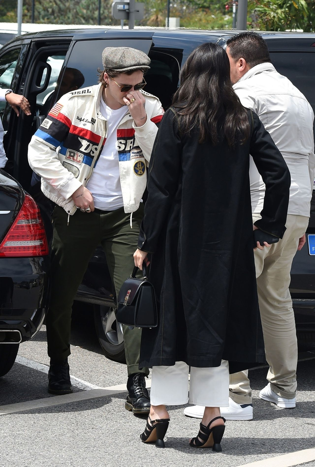 *EXCLUSIVE* WEB MUST CALL FOR PRICING  - David and Victoria Beckham's oldest son Brooklyn Beckham and girlfriend Hana Cross spotted in Cannes.