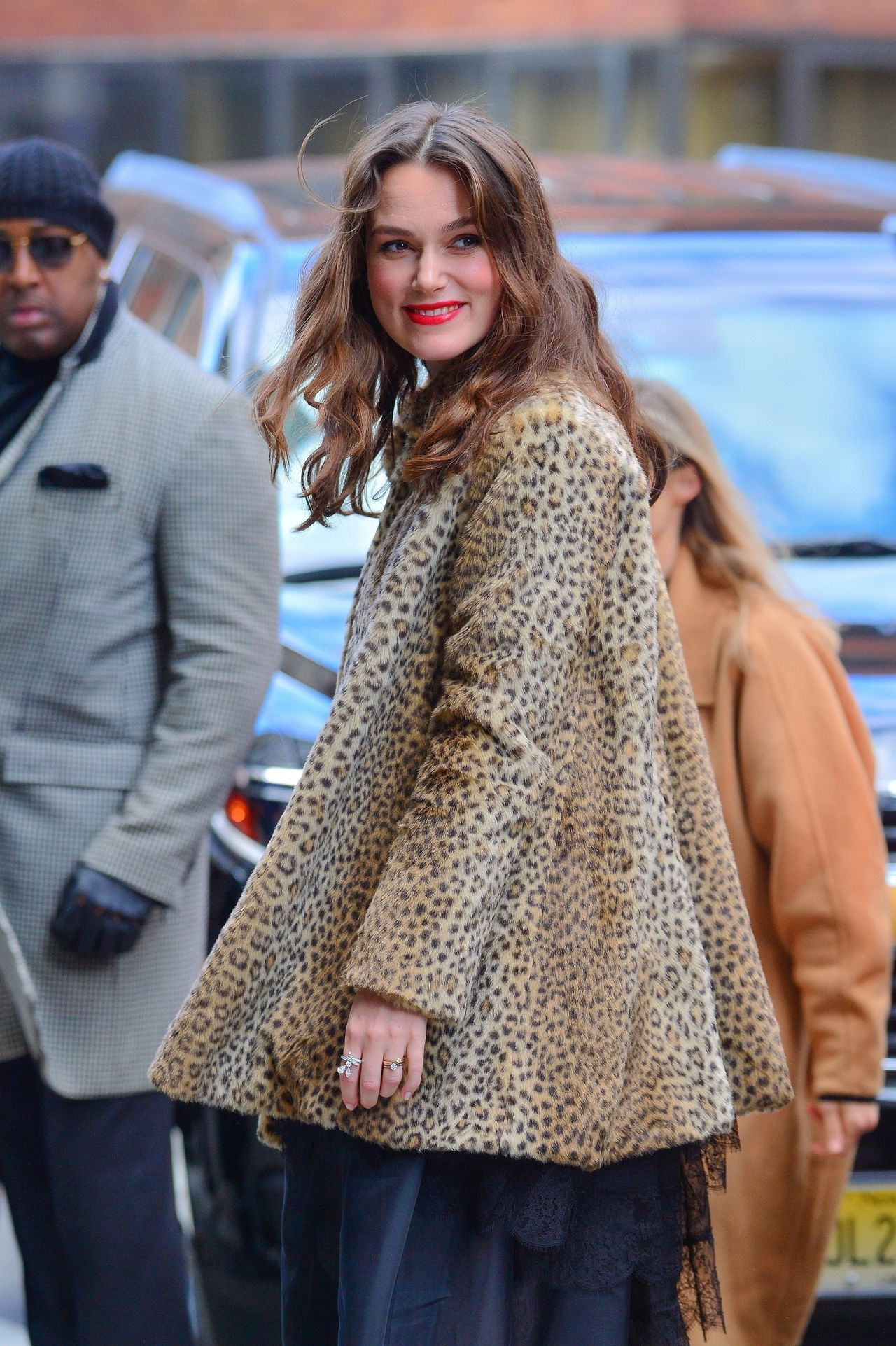 Keira Knightley is all smiles as she arrives to AOL Build Keira Knightley