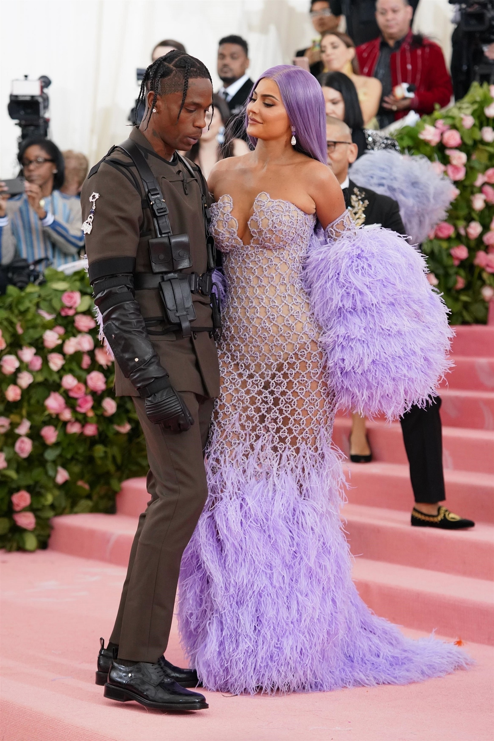 Celebrities look stunning as they step out for the Met Gala Travis Scott, Kylie Jenner