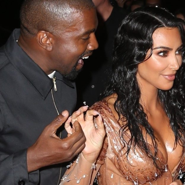 Kim Kardashian and Kanye West return to their hotel after the Met Gala Kim Kardashian, Kanye West