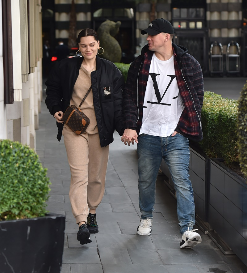 Channing Tatum and Jessie J are seen hand in hand in London as they stroll through knightsbridge shopping