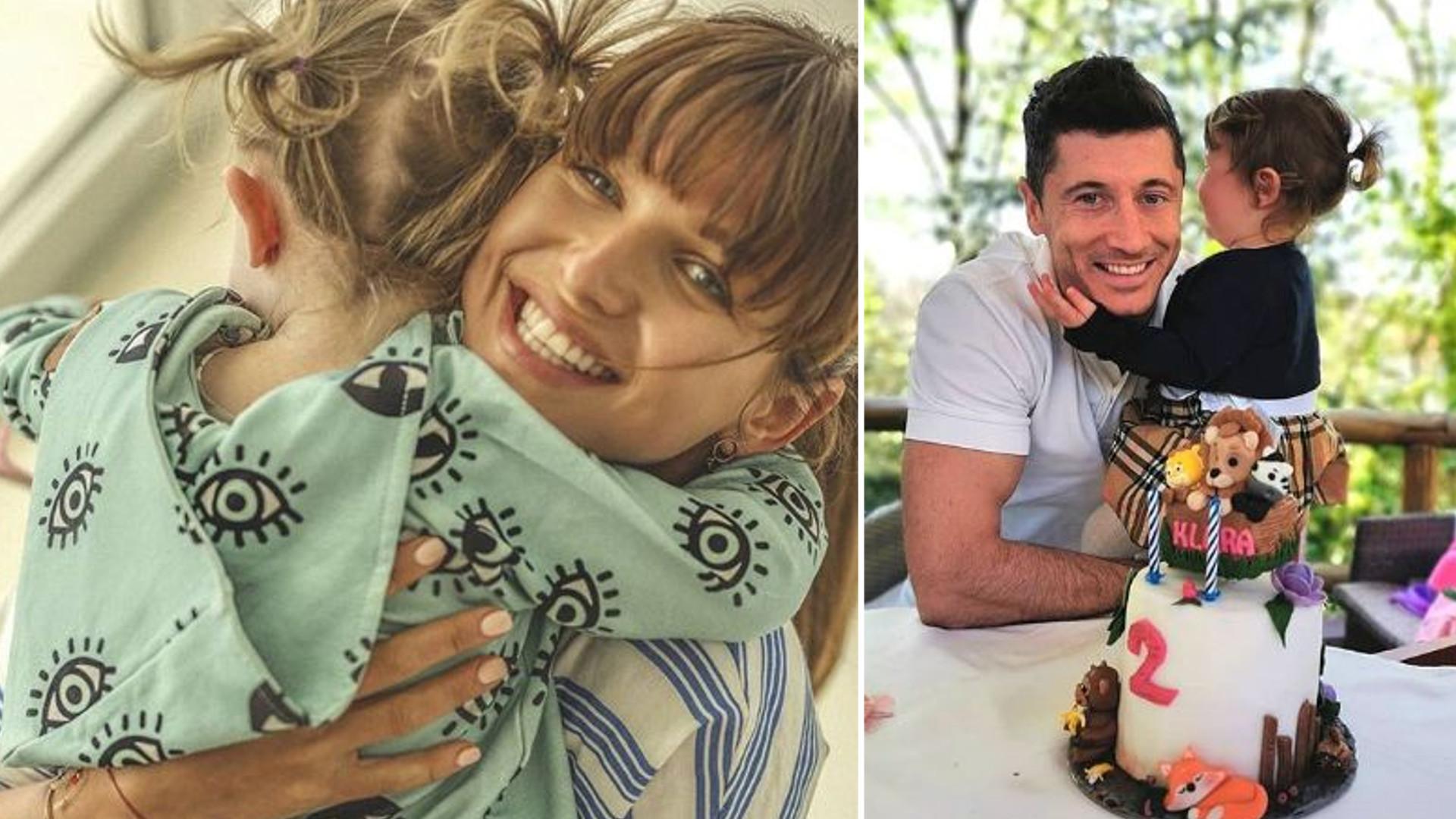Anna i Robert Lewandowscy na urodzinowych zdjęciach z córką Klarą – dziewczynka kończy dziś 2 latka (Instagram)
